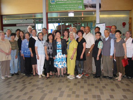 On July 4th, Wai Young, M.P. for Vancouver East introduced Hon. Alice Wong, Minister of State for Seniors to a few of the members of SVSACS.